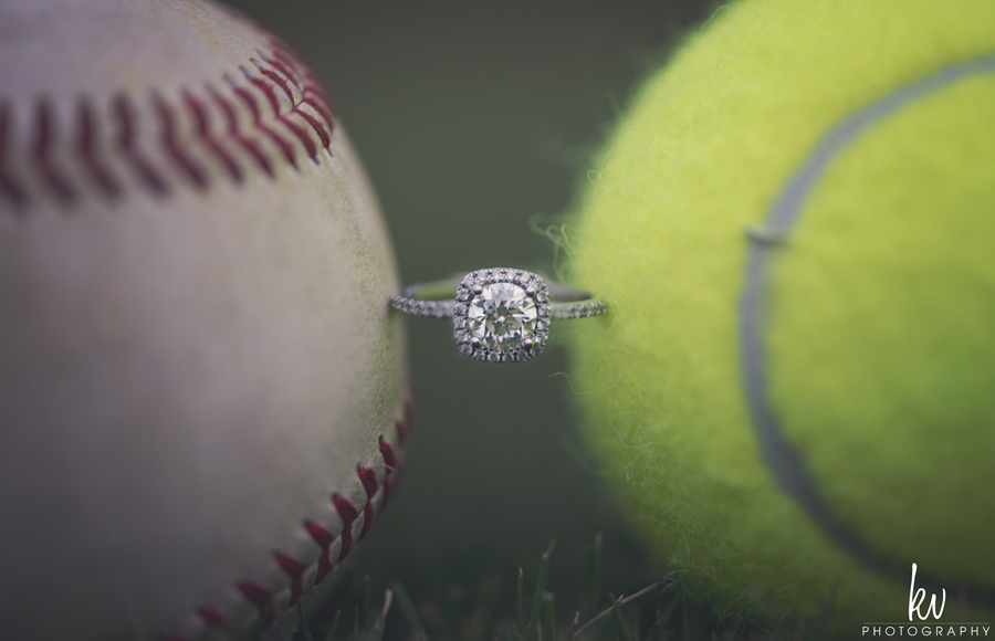 tennis and baseball Rollins college engagement session by kv photography orlando wedding photographers