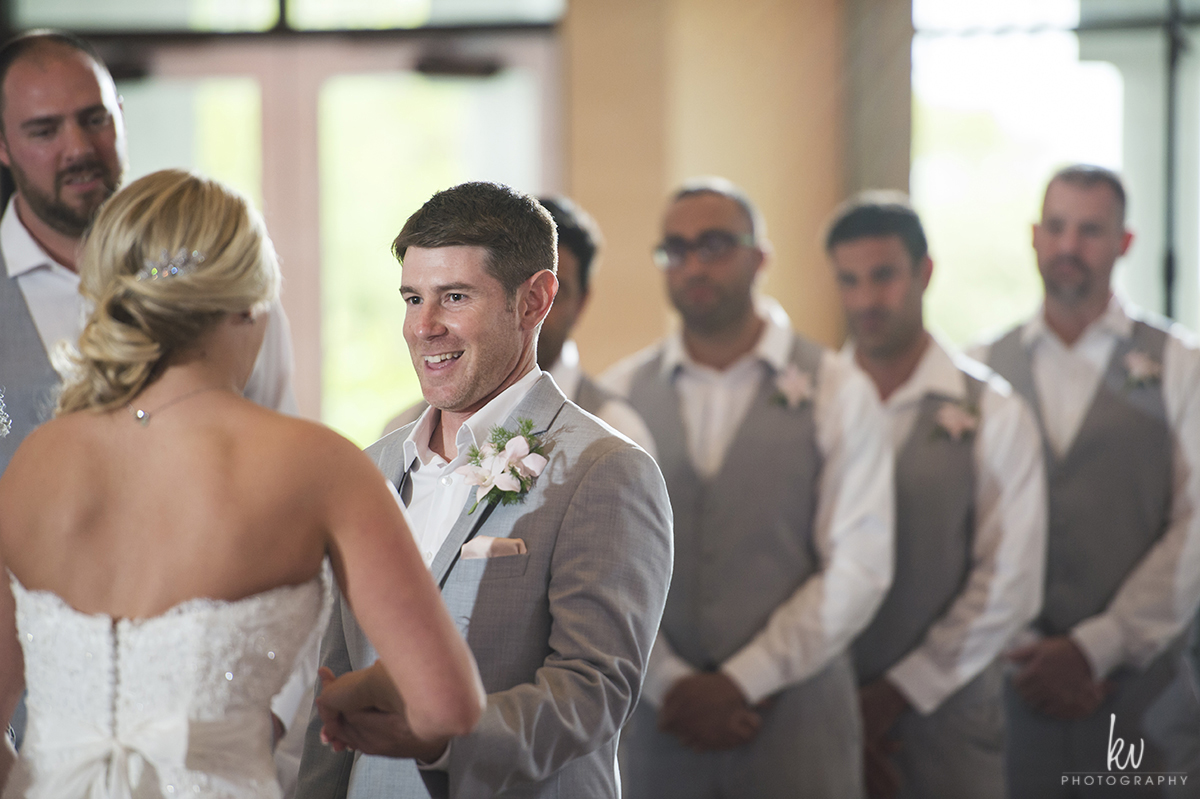 Ceremony during an orlando wedding by kv photography