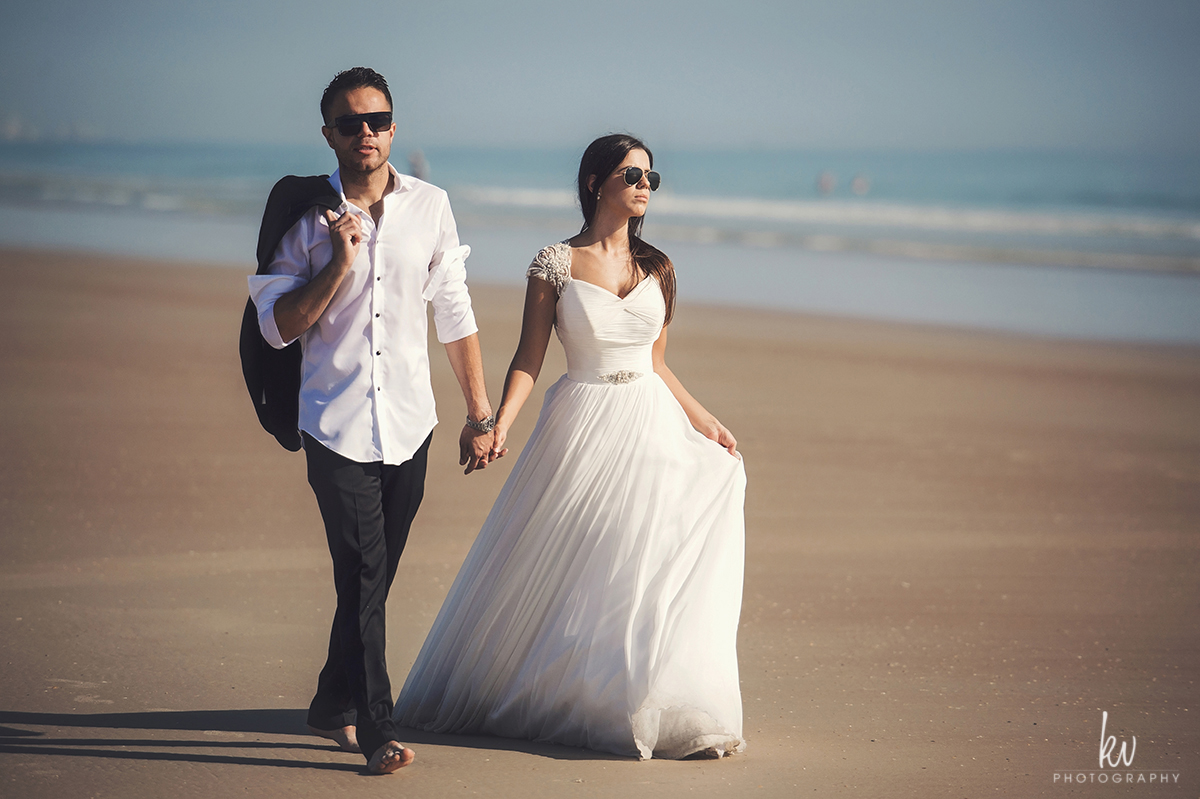 Florida beach after wedding photoshoot