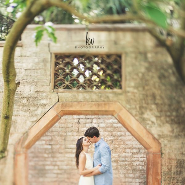 Bok Tower Gardens Engagement   Brittany and Paul   Orlando Wedding Photographer